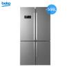 倍科(beko) GNE114622IX 556升 冰箱 十字对开门冰箱 多门冰箱 变频风冷无霜 欧洲原装进口(银灰色)