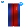 倍科(beko)EUG91640FCB 巴萨定制款冰箱 对开门冰箱 风冷无霜原装进口电冰箱