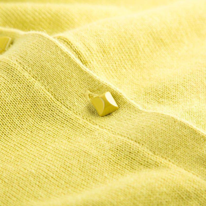 拉夏贝尔Candie's2018 春装新款活力亮长袖圆领短款开衫针织衫女30061075