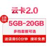 苏宁云卡5G大流量卡手机卡电话卡上网卡流量卡4G手机卡