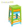 茶花(CHAHUA)【弧形高凳4只装】A0838P*4防滑塑料凳子加厚方凳板凳