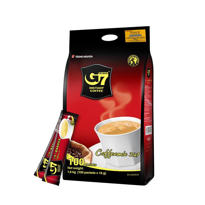 中原(G7) 三合一速溶咖啡 1600g (16g*100条) 越南进口 咖啡