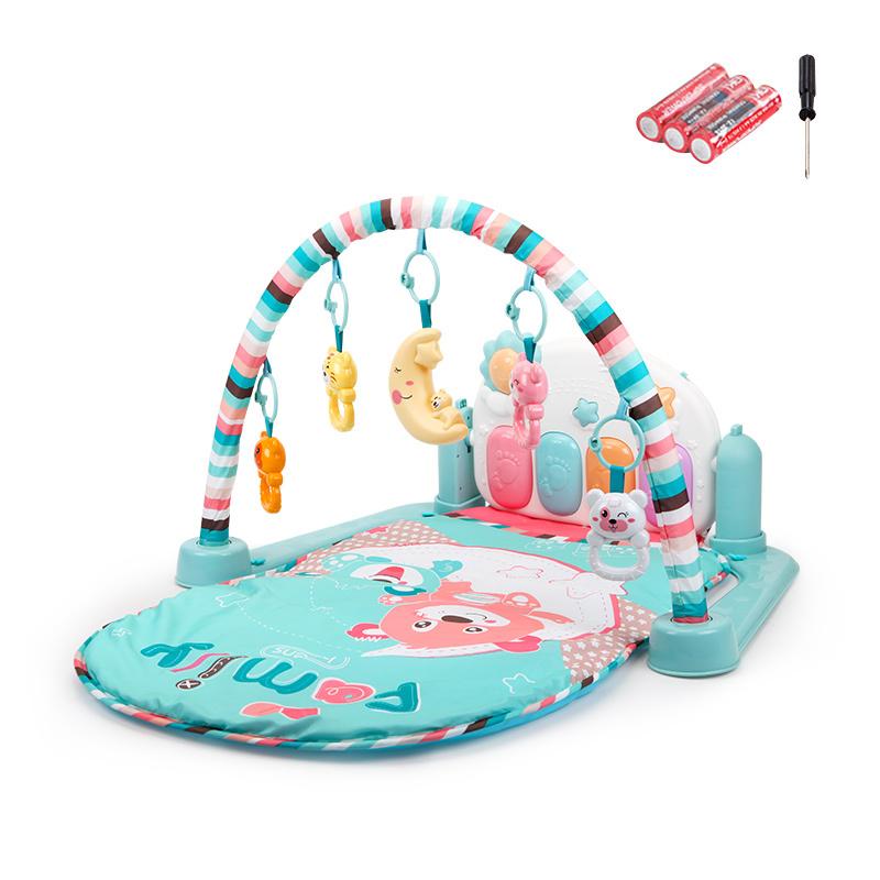 贝恩施婴儿脚踏琴钢琴健身架器新生儿宝宝音乐儿童玩具0-1岁3个月 【Family贝尼熊】