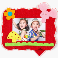 相框儿童手工diy制作材料包幼儿园美劳不织布粘贴布艺贴画家柏饰图片