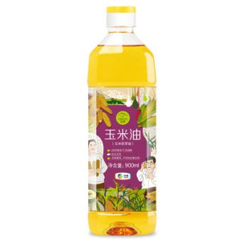 中粮 初萃(CHUCUI) 玉米胚芽油900ml 非转基因粮油 食用油 压榨玉米油 轻便瓶装