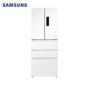 三星(SAMSUNG)RN40KD8J0WW/SC450L升风冷无霜智能变频静音家用大容量多开门电冰箱法式多门冰箱白色