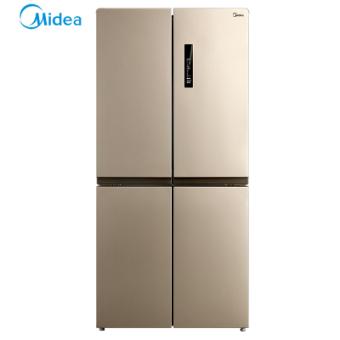 美的(Midea)BCD-468WTPM(E) 468升十字对开门多门冰箱 纤薄机身 变频节能 风冷无霜 静音省电 家用