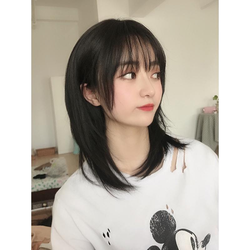 采药师caiyaoshi高层次发型假发女齐肩锁骨发蓬松中长发视频