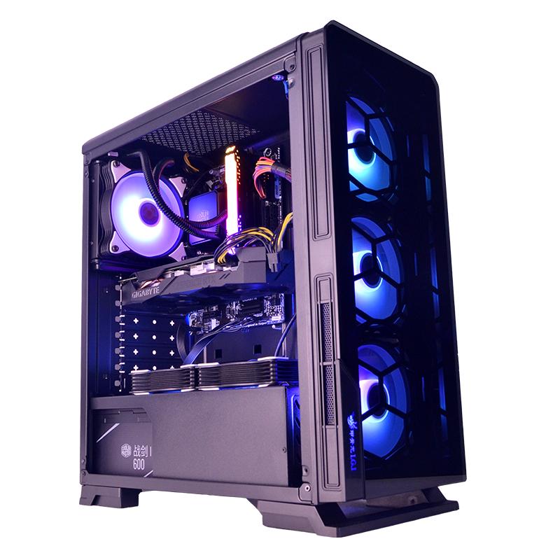 甲骨龙 明朗台式机电脑U3水冷游戏侧透ATX机箱支持背线