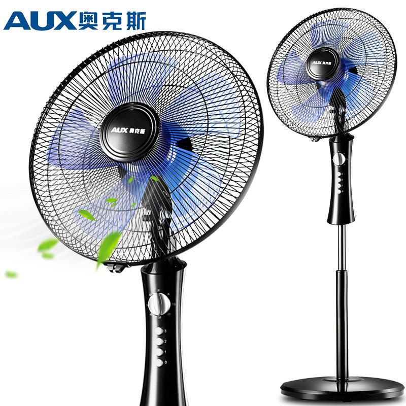 奥克斯(AUX)电风扇FS1603家用床头定时落地扇 节能立式办公室轻音风扇 黑色