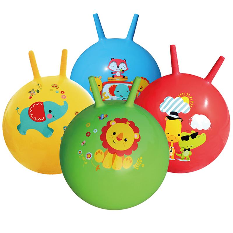 费雪 fisher price 羊角球加厚手柄球40cm儿童跳跳球充气健身球幼儿园 蜜芽