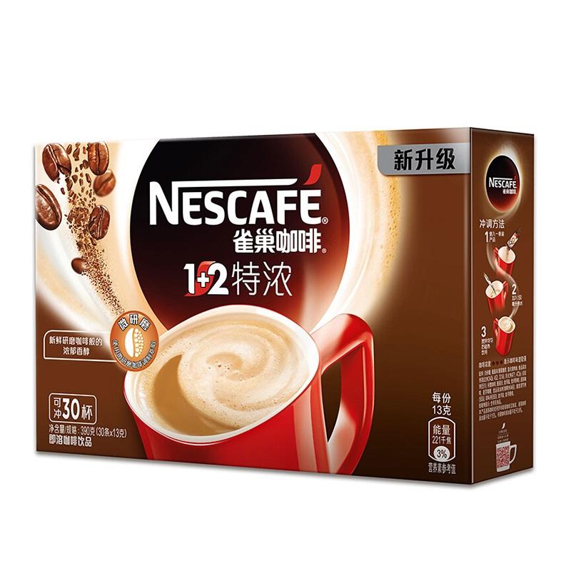 雀巢(Nestle)1+2特浓咖啡 390g盒装 速溶咖啡