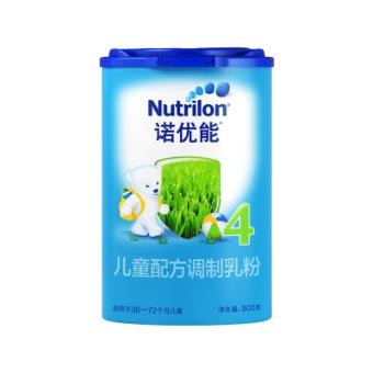 诺优能(Nutrilon)儿童配方调制乳粉爱尔兰版(36-72月龄,4段)800g 欧洲原装进口宝宝牛奶粉