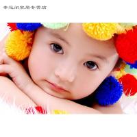 创意个性女宝宝图片墙贴画婴儿照片海报孕妇漂亮女孩大眼睛萌娃宝宝