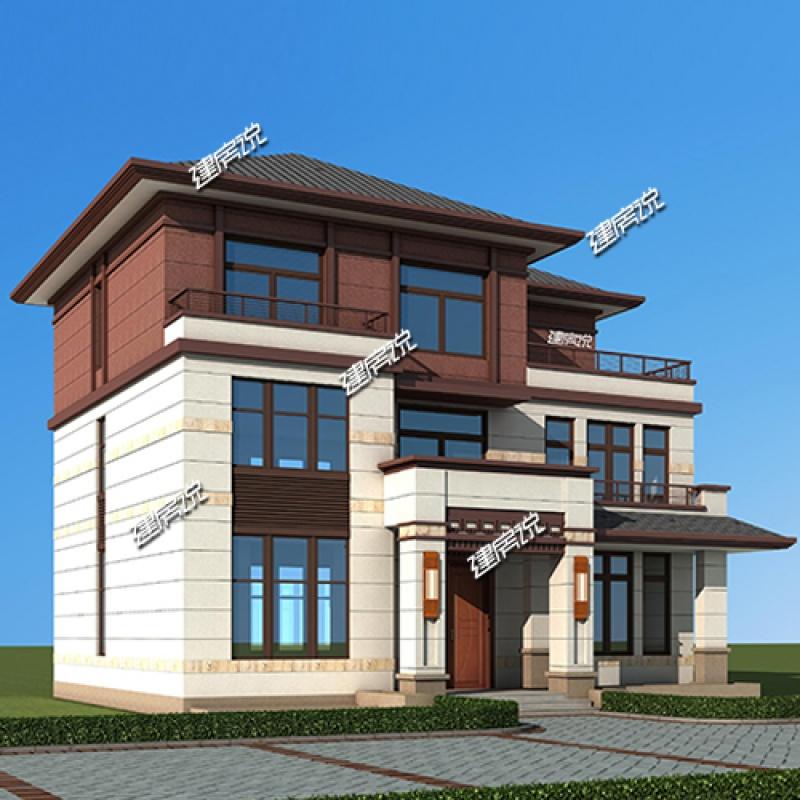 农村直营店)厂家自建房设计图图纸v农村别墅全蓬皮杜建筑设计图片