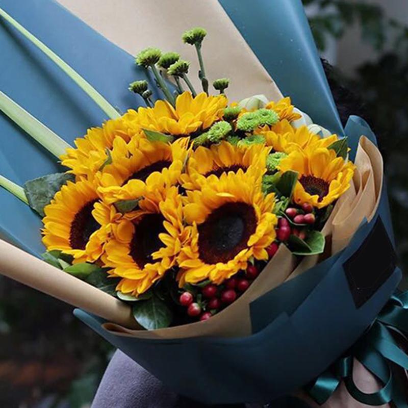 【緩緩柔情】11枝向日葵花束A款