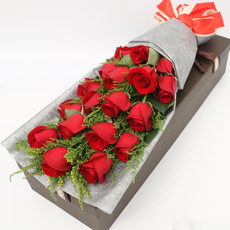 【天涯海角】19枝红玫瑰礼盒