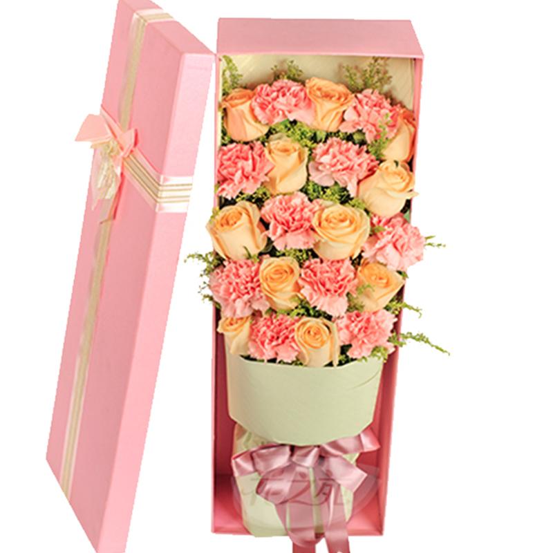 【母亲之情】康乃馨玫瑰礼盒