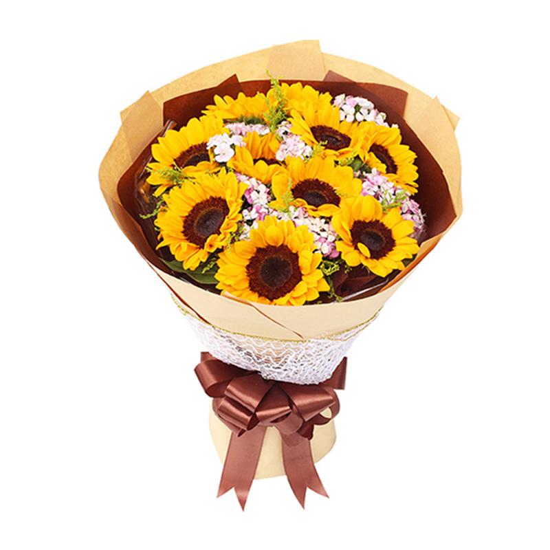 【纯净阳光】10枝向日葵花束A款