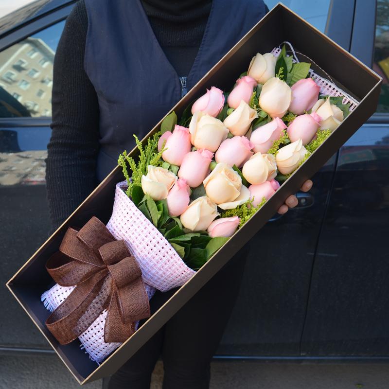 【幸福归来】21枝混色玫瑰礼盒