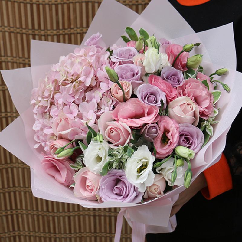 【小情趣】粉色绣球精美花束