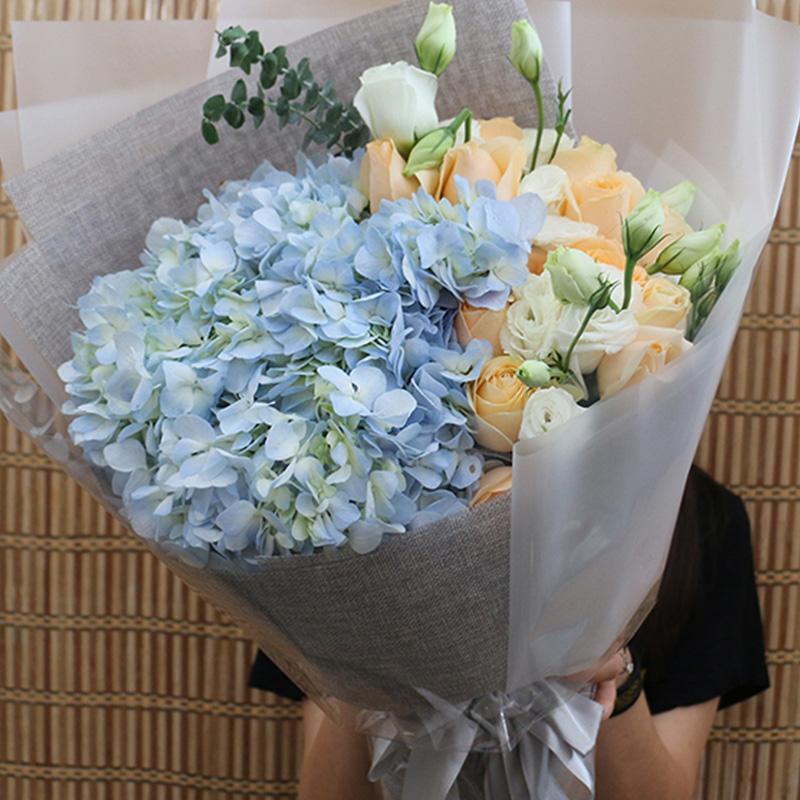 【小公主】蓝色绣球精美花束