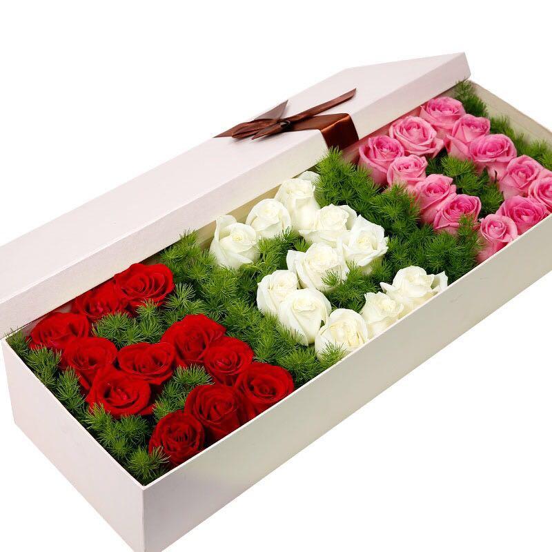 【甜蜜心动】36枝混色玫瑰礼盒