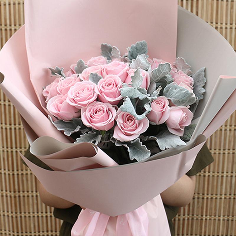 【美好如初见】19枝粉佳人玫瑰花束