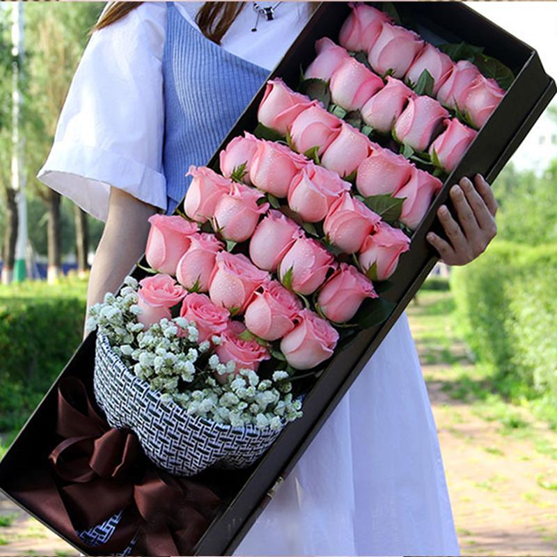 【美丽天使】33枝粉玫瑰礼盒A款