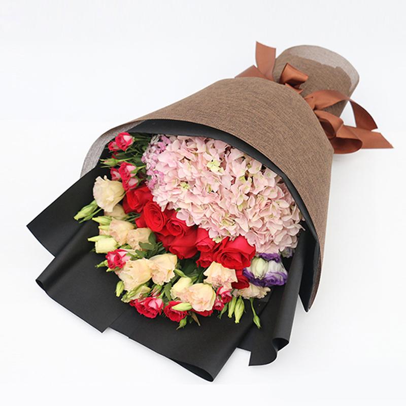 【情的守候】粉色绣球精美花束