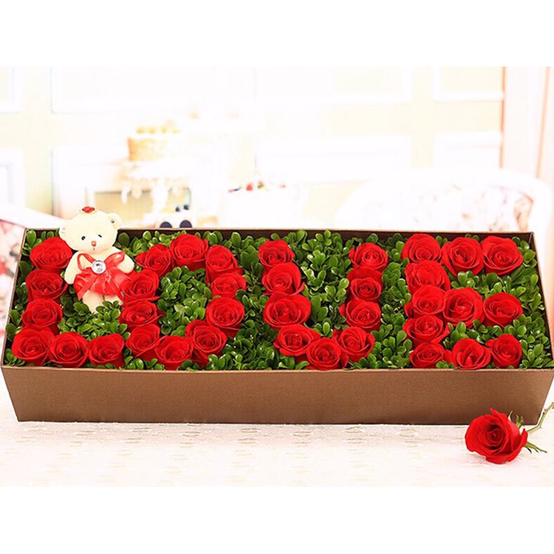 【爱.如初】36枝红玫瑰精美礼盒