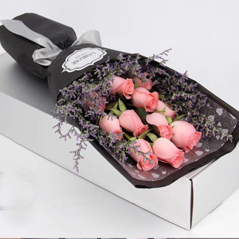 【粉红回忆】11枝戴安娜玫瑰礼盒