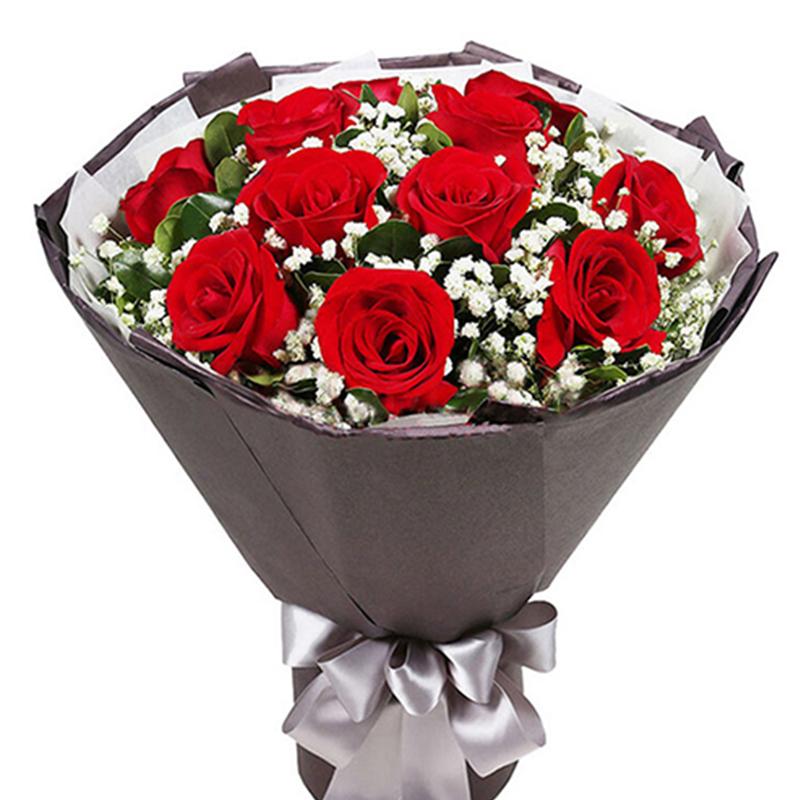 【小依恋】11枝红玫瑰花束
