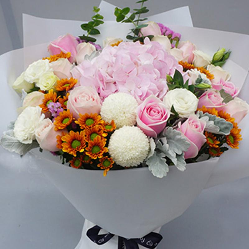 【永恒之爱】绣球玫瑰精美花束