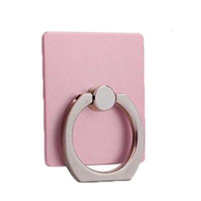 【六个装】手机指环支架平板通用懒人指环扣防摔粘贴式桌面支架潮 (6个装)方块型玫瑰金