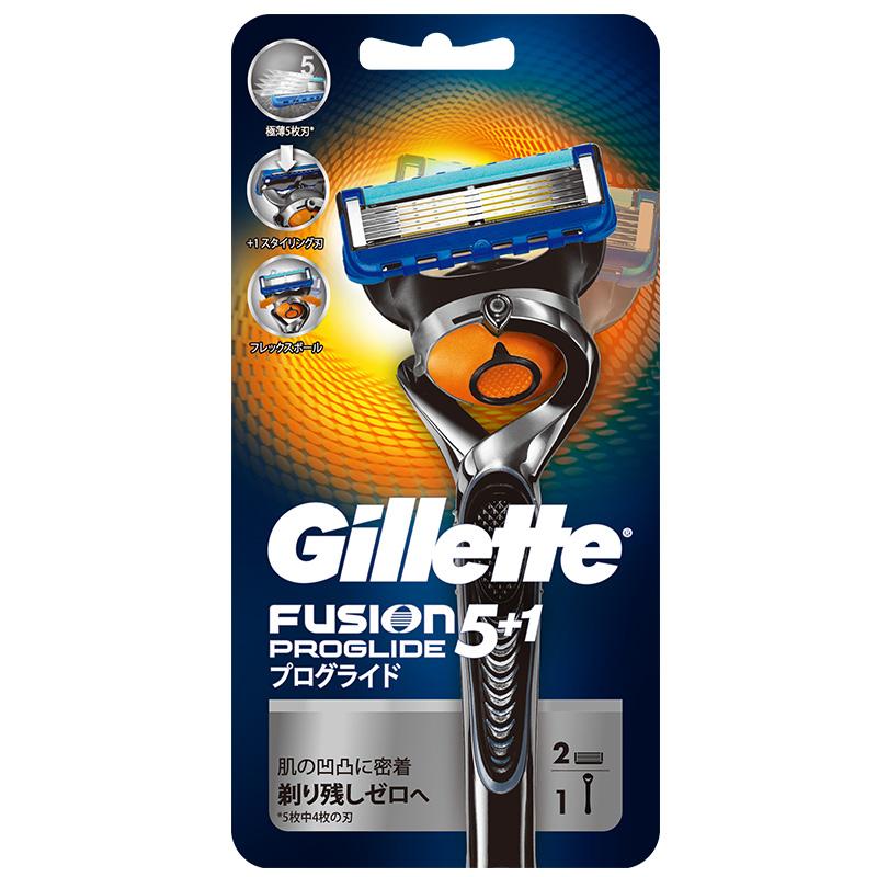 吉列(Gillette)PROGLIDE 無感系列動力剃鬚刀 (1刀架2刀片)