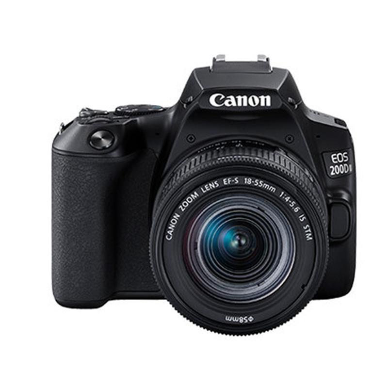 佳能(Canon)迷你单反EOS 200D II(18-55)黑色数码相机 单镜头套装 有效像素约2410万
