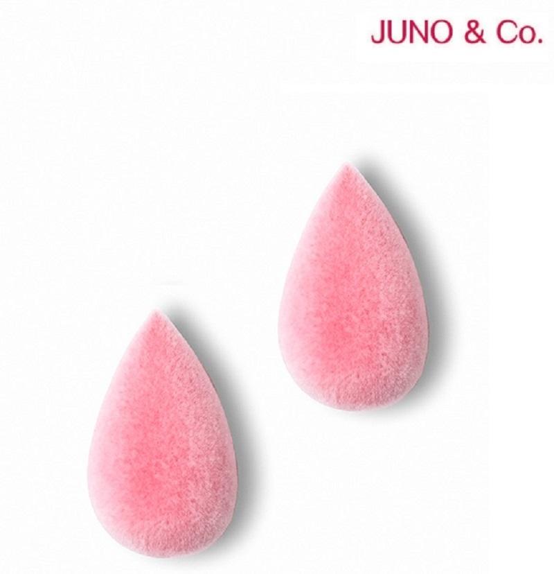 JUNO&Co - 迷你絲絨美妝蛋-粉色(2pcs)
