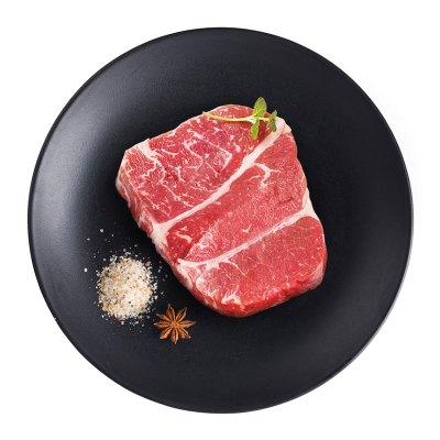 88元  恋尚牛  加拿大进口 谷饲AAA原切牛排 上脑牛排200g*4