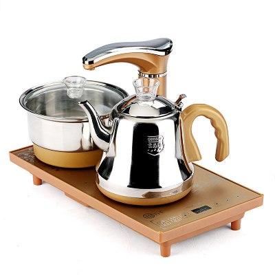 纳丽雅(Naliya)喝茶烧水一体机全自动上水电茶炉功夫茶具茶盘套装配件四合一快速炉电磁炉壶 金色全自动电热水壶
