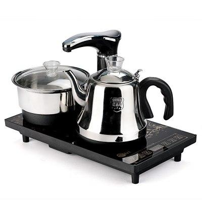 纳丽雅(Naliya)喝茶烧水一体机全自动上水电茶炉功夫茶具茶盘套装配件四合一快速炉电磁炉壶 黑色全自动电热水壶