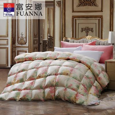 999元包邮   富安娜(FUANNA)家纺羽绒被95%白鹅绒冬被 1.8米