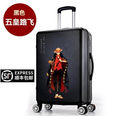 海贼王行李箱男韩版学生旅行箱潮万向轮女动漫卡通路飞拉杆箱索隆 欢迎来图定制 24寸