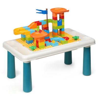 39.9元包邮   OMKHE 儿童玩具积木桌子 +100颗积木