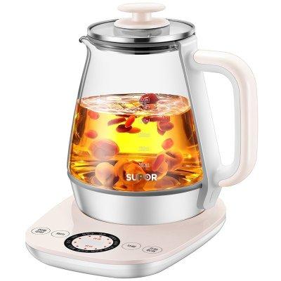 苏泊尔(SUPOR) 多功能养生壶 SW-15Y12 电热水壶 加厚玻璃 煎药 煮花茶壶 隔水炖 消毒 1.5L