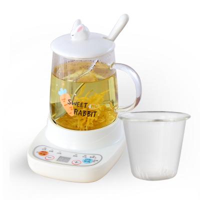 煮茶器古达小型养生壶迷你办公室烧茶炉mini花茶壶电炖杯玻璃烧水壶 360w底座+萝卜c+滤芯