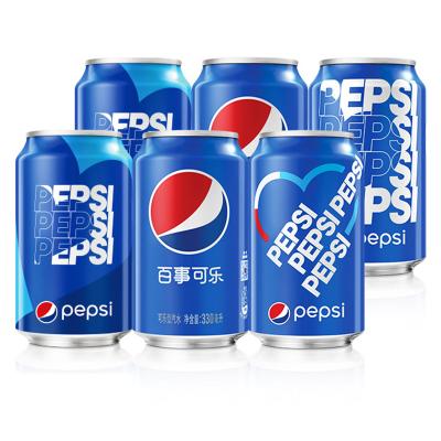 PEPSI 百事可乐 碳酸饮料 330ml*6包