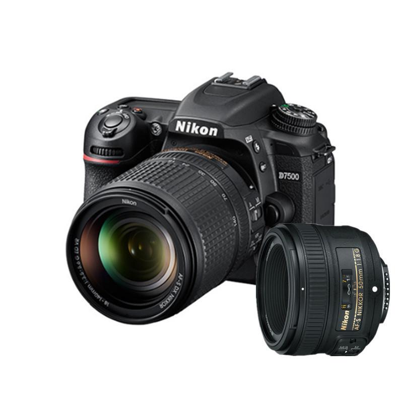 单反相机报价_尼康(Nikon)单反相机 Nikon/尼康 D7500套机18-140mm+50 1.8G人像镜头 双 ...
