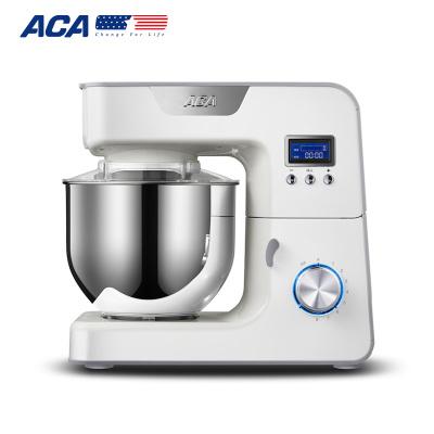 北美电器(ACA)厨师机AM-CG108-1 升级液晶屏家用和面机多功能小型商用全自动揉面机搅拌机打蛋器鲜奶机旋钮机械式