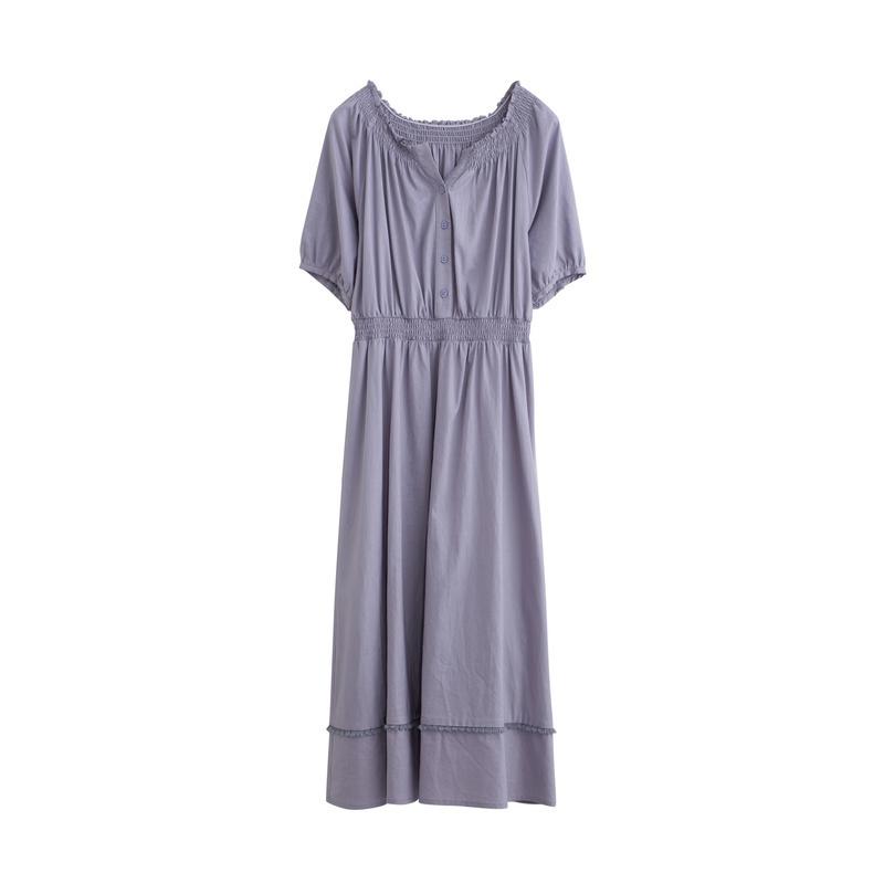 限S码:茵曼 18921021020 女士中长连衣裙 94.5元包邮(下单5折)